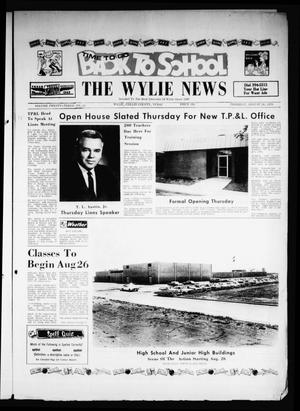 Primary view of object titled 'The Wylie News (Wylie, Tex.), Vol. 23, No. 10, Ed. 1 Thursday, August 20, 1970'.