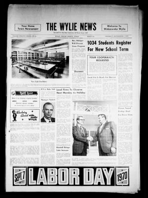 Primary view of object titled 'The Wylie News (Wylie, Tex.), Vol. 23, No. 12, Ed. 1 Thursday, September 3, 1970'.