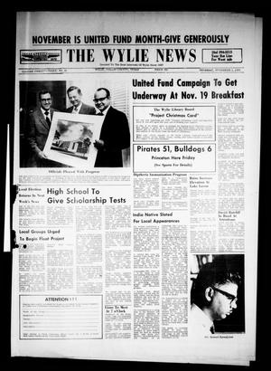 Primary view of object titled 'The Wylie News (Wylie, Tex.), Vol. 23, No. 21, Ed. 1 Thursday, November 5, 1970'.