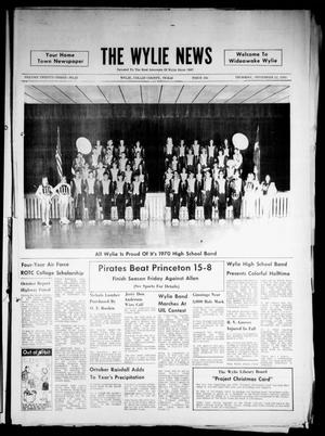 Primary view of object titled 'The Wylie News (Wylie, Tex.), Vol. 23, No. 22, Ed. 1 Thursday, November 12, 1970'.