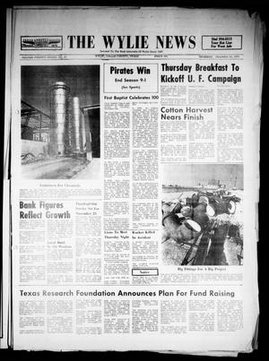 Primary view of object titled 'The Wylie News (Wylie, Tex.), Vol. 23, No. 23, Ed. 1 Thursday, November 19, 1970'.