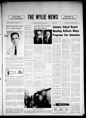 Primary view of object titled 'The Wylie News (Wylie, Tex.), Vol. 23, No. 31, Ed. 1 Thursday, January 21, 1971'.