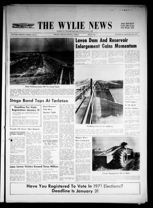 Primary view of object titled 'The Wylie News (Wylie, Tex.), Vol. 23, No. 32, Ed. 1 Thursday, January 28, 1971'.