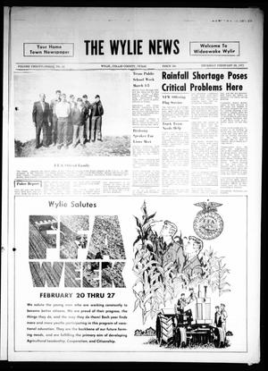 Primary view of object titled 'The Wylie News (Wylie, Tex.), Vol. 23, No. 35, Ed. 1 Thursday, February 18, 1971'.