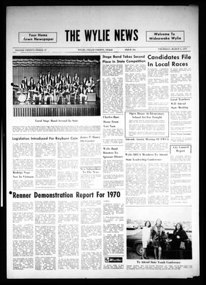 Primary view of object titled 'The Wylie News (Wylie, Tex.), Vol. 23, No. 37, Ed. 1 Thursday, March 4, 1971'.