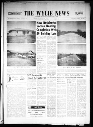 Primary view of object titled 'The Wylie News (Wylie, Tex.), Vol. 23, No. 40, Ed. 1 Thursday, March 25, 1971'.
