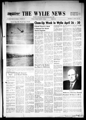 Primary view of object titled 'The Wylie News (Wylie, Tex.), Vol. 23, No. 44, Ed. 1 Thursday, April 22, 1971'.