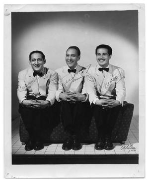 Primary view of object titled 'Portrait of singing trio Los Excentricos'.