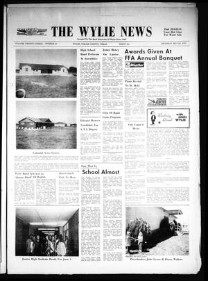 Primary view of object titled 'The Wylie News (Wylie, Tex.), Vol. 23, No. 48, Ed. 1 Thursday, May 20, 1971'.