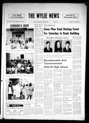 Primary view of object titled 'The Wylie News (Wylie, Tex.), Vol. 23, No. 51, Ed. 1 Thursday, June 10, 1971'.