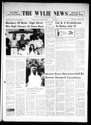 Primary view of object titled 'The Wylie News (Wylie, Tex.), Vol. 24, No. 1, Ed. 1 Thursday, June 24, 1971'.