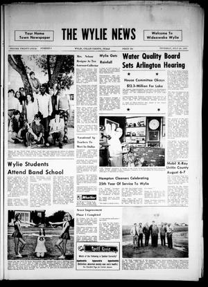 Primary view of object titled 'The Wylie News (Wylie, Tex.), Vol. 24, No. 6, Ed. 1 Thursday, July 29, 1971'.