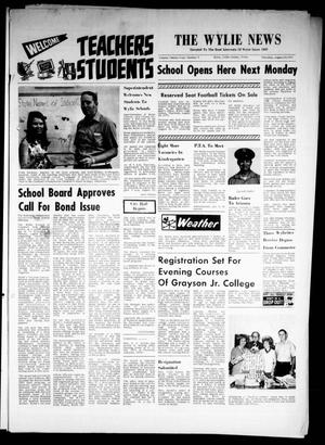 Primary view of object titled 'The Wylie News (Wylie, Tex.), Vol. 24, No. 9, Ed. 1 Thursday, August 19, 1971'.