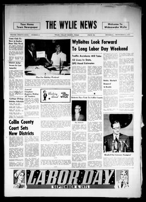 Primary view of object titled 'The Wylie News (Wylie, Tex.), Vol. 24, No. 11, Ed. 1 Thursday, September 2, 1971'.