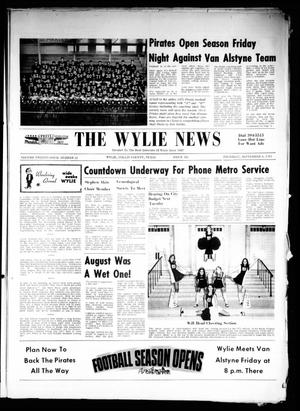 Primary view of object titled 'The Wylie News (Wylie, Tex.), Vol. 24, No. 12, Ed. 1 Thursday, September 9, 1971'.