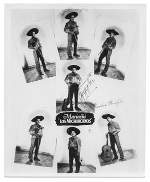 Primary view of object titled 'Poster of mariachi group Los Michoacanos'.