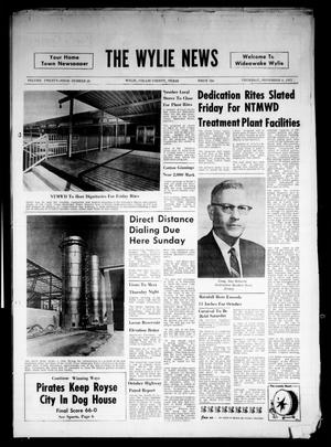 Primary view of object titled 'The Wylie News (Wylie, Tex.), Vol. 24, No. 20, Ed. 1 Thursday, November 4, 1971'.