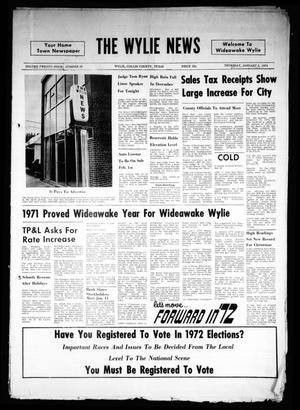 Primary view of object titled 'The Wylie News (Wylie, Tex.), Vol. 24, No. 28, Ed. 1 Thursday, January 6, 1972'.