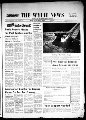 Primary view of object titled 'The Wylie News (Wylie, Tex.), Vol. 24, No. 29, Ed. 1 Thursday, January 13, 1972'.