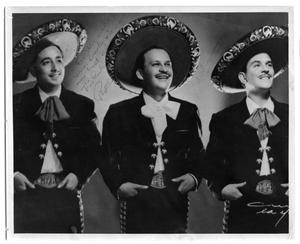 Primary view of object titled 'Portrait of a mariachi trio'.