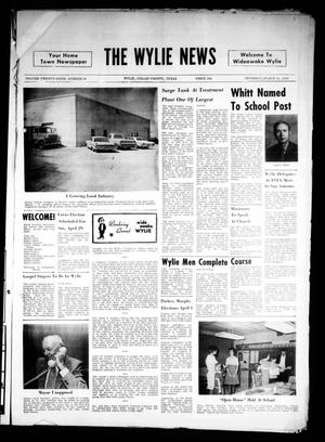 Primary view of object titled 'The Wylie News (Wylie, Tex.), Vol. 24, No. 38, Ed. 1 Thursday, March 16, 1972'.