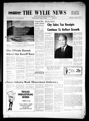 Primary view of object titled 'The Wylie News (Wylie, Tex.), Vol. 24, No. 41, Ed. 1 Thursday, April 6, 1972'.