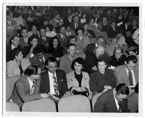 Primary view of object titled 'Large audience in a theatre'.