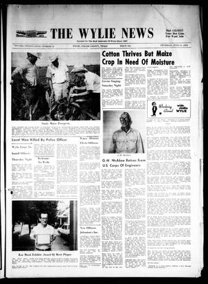 Primary view of object titled 'The Wylie News (Wylie, Tex.), Vol. 24, No. 51, Ed. 1 Thursday, June 15, 1972'.