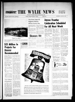 Primary view of object titled 'The Wylie News (Wylie, Tex.), Vol. 25, No. 1, Ed. 1 Thursday, June 29, 1972'.