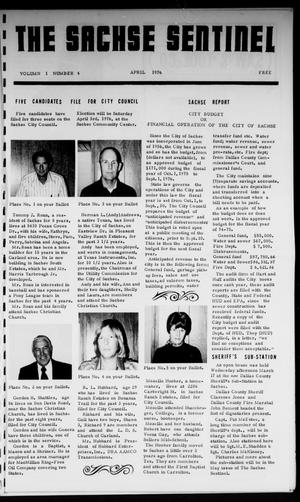 Primary view of object titled 'The Sachse Sentinel (Sachse, Tex.), Vol. 1, No. 4, Ed. 1 Thursday, April 1, 1976'.