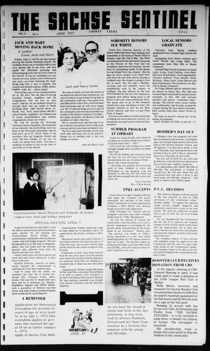 Primary view of object titled 'The Sachse Sentinel (Sachse, Tex.), Vol. 2, No. 6, Ed. 1 Wednesday, June 1, 1977'.