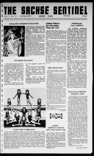 Primary view of object titled 'The Sachse Sentinel (Sachse, Tex.), Vol. 2, No. 10, Ed. 1 Saturday, October 1, 1977'.
