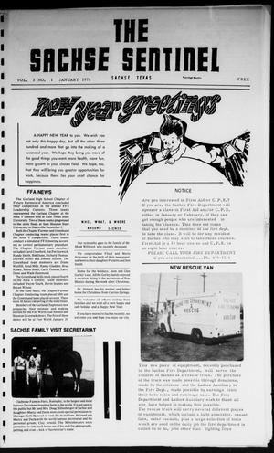 Primary view of object titled 'The Sachse Sentinel (Sachse, Tex.), Vol. 3, No. 1, Ed. 1 Sunday, January 1, 1978'.