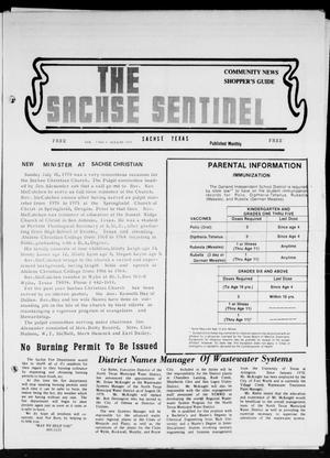 Primary view of object titled 'The Sachse Sentinel (Sachse, Tex.), Vol. 3, No. 8, Ed. 1 Tuesday, August 1, 1978'.