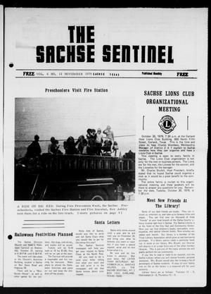 Primary view of object titled 'The Sachse Sentinel (Sachse, Tex.), Vol. 4, No. 11, Ed. 1 Thursday, November 1, 1979'.