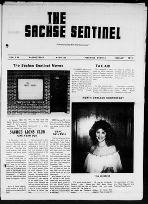 Primary view of object titled 'The Sachse Sentinel (Sachse, Tex.), Vol. 6, No. 2, Ed. 1 Sunday, February 1, 1981'.