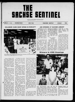 Primary view of object titled 'The Sachse Sentinel (Sachse, Tex.), Vol. 6, No. 8, Ed. 1 Saturday, August 1, 1981'.