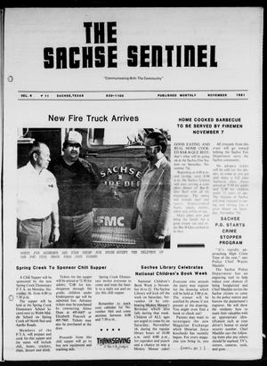 Primary view of object titled 'The Sachse Sentinel (Sachse, Tex.), Vol. 6, No. 11, Ed. 1 Sunday, November 1, 1981'.