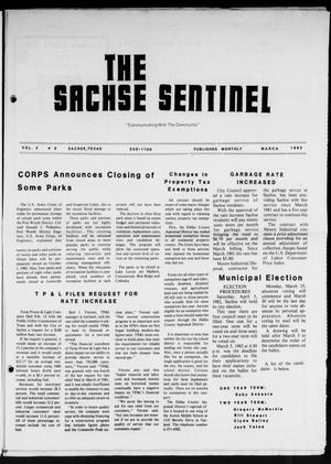 Primary view of object titled 'The Sachse Sentinel (Sachse, Tex.), Vol. 7, No. 3, Ed. 1 Monday, March 1, 1982'.