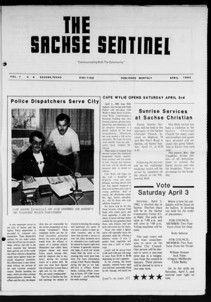 Primary view of object titled 'The Sachse Sentinel (Sachse, Tex.), Vol. 7, No. 4, Ed. 1 Thursday, April 1, 1982'.