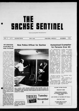 Primary view of object titled 'The Sachse Sentinel (Sachse, Tex.), Vol. 7, No. 11, Ed. 1 Monday, November 1, 1982'.