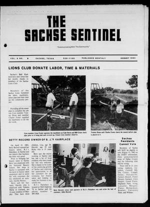 Primary view of object titled 'The Sachse Sentinel (Sachse, Tex.), Vol. 8, No. 8, Ed. 1 Monday, August 1, 1983'.