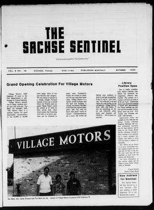 Primary view of object titled 'The Sachse Sentinel (Sachse, Tex.), Vol. 8, No. 10, Ed. 1 Saturday, October 1, 1983'.