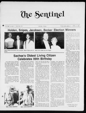 Primary view of object titled 'The Sentinel (Sachse, Tex.), Vol. 12, No. 9, Ed. 1 Thursday, April 9, 1987'.