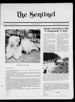 Primary view of object titled 'The Sentinel (Sachse, Tex.), Vol. 12, No. 23, Ed. 1 Wednesday, July 15, 1987'.