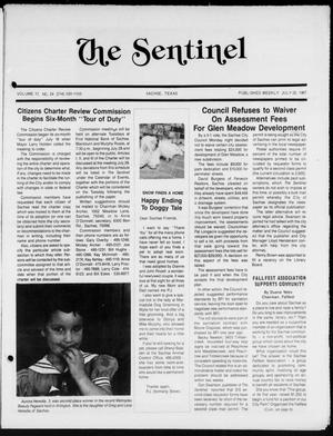 Primary view of object titled 'The Sentinel (Sachse, Tex.), Vol. 12, No. 24, Ed. 1 Wednesday, July 22, 1987'.