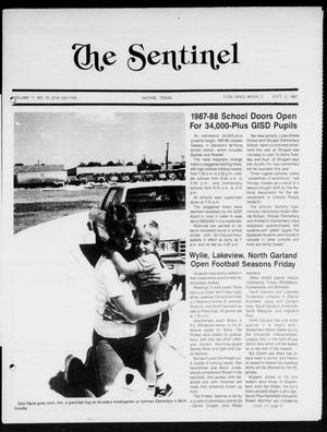 Primary view of object titled 'The Sentinel (Sachse, Tex.), Vol. 12, No. 30, Ed. 1 Wednesday, September 2, 1987'.