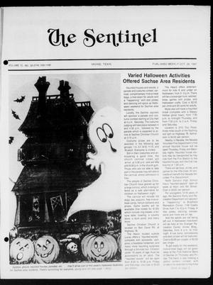 Primary view of object titled 'The Sentinel (Sachse, Tex.), Vol. 12, No. 38, Ed. 1 Wednesday, October 28, 1987'.