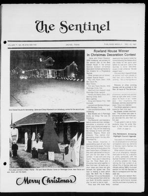 Primary view of object titled 'The Sentinel (Sachse, Tex.), Vol. 12, No. 46, Ed. 1 Wednesday, December 23, 1987'.