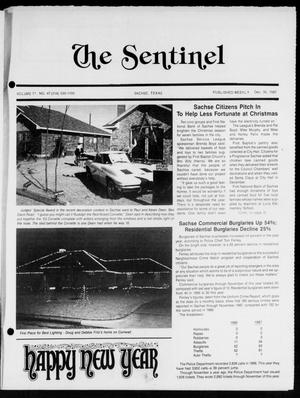 Primary view of object titled 'The Sentinel (Sachse, Tex.), Vol. 12, No. 47, Ed. 1 Wednesday, December 30, 1987'.